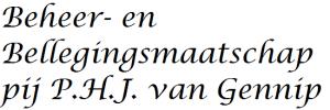Beheer-en Bellegingsmaatschappij P.H.J. van Gennip