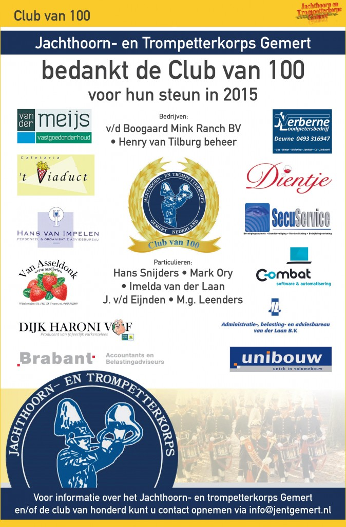club van 100 advertentie 2015