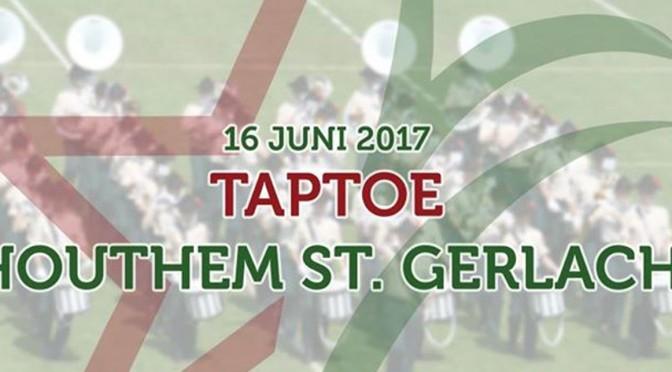 J en T Gemert  geeft acte de présence bij Taptoe Houthem